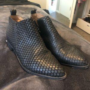 EUC Corso Como Fish Scale Leather Bootie